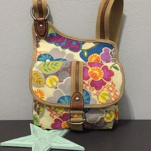 🌸Fossil Floral Crossbody